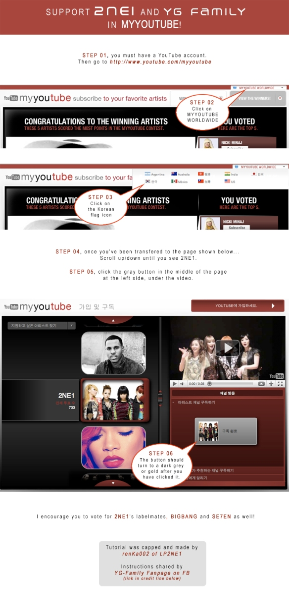 TUTORIAL HOW TO VOTE for 2NE1 in MYYOUTUBE