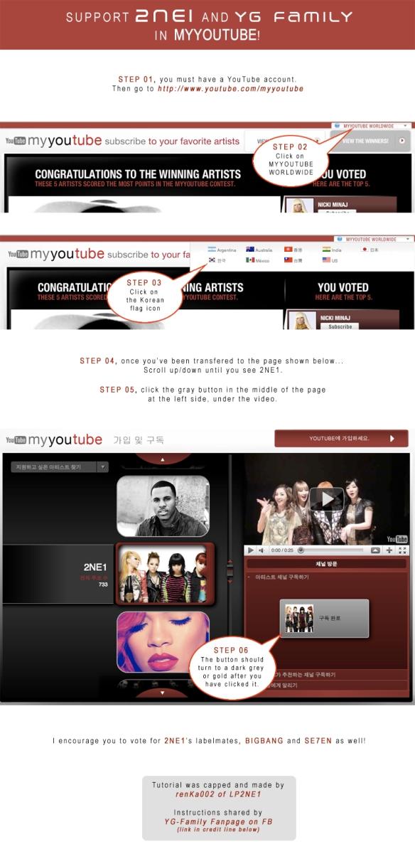 TUTORIAL HOW TO VOTE for 2NE1 in MYYOUTUBE